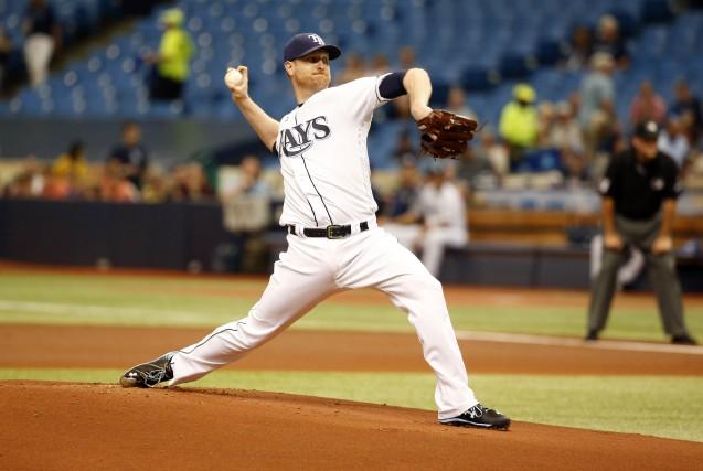 Le lanceur partant des Rays, Alex Cobb... (Photo Kim Klement, USA TODAY Sports)