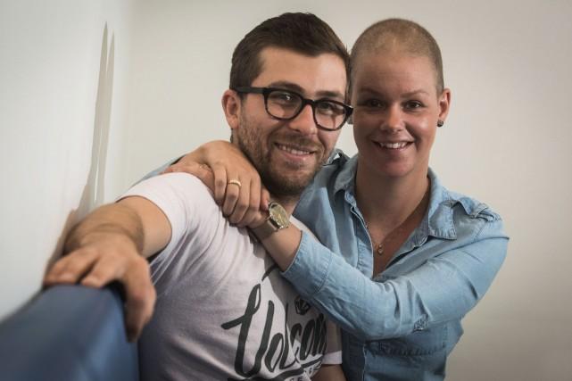 Remplis d'espoir, Simon Aubin-Fortin et Vanessa Gagné ont... (François Gervais)