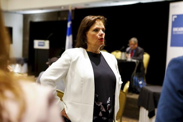 La ministre Lucie Charlebois a avoué avoir rencontré... (Le Soleil, Caroline Grégoire)