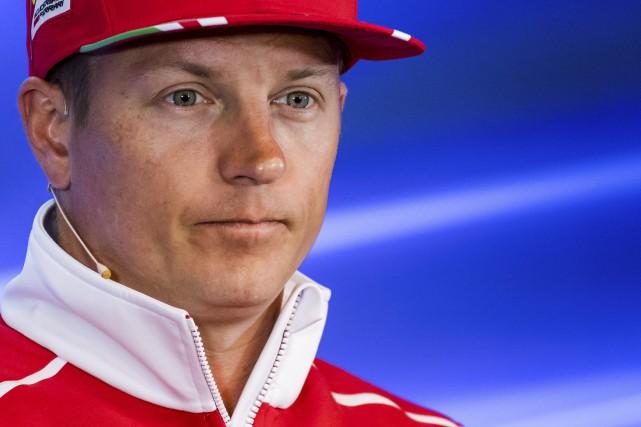 Le pilote finlandais Kimi Räikkönen... (Photo : AP)