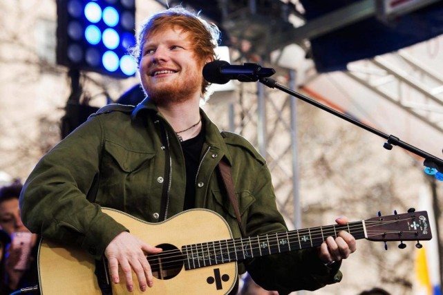 Ed Sheeran... (PHOTO ARCHIVES AP)