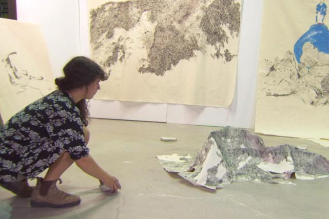 À l'instar d'une douzaine d'artistes, Karine Locatelli participe... (Photo courtoisie Télé-Québec Capitale-Nationale)