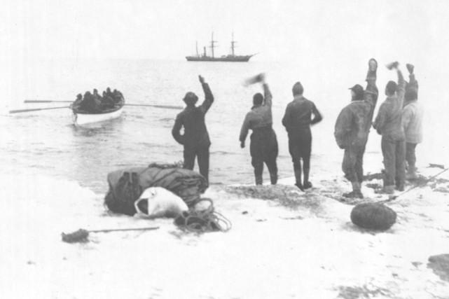Les explorateurs de l'équipe de Robert Falcon Scott... (Archives Le Soleil)