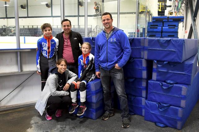 Le Club de patinage de vitesse F18 de... (Photo Le Progrès, Rocket Lavoie)