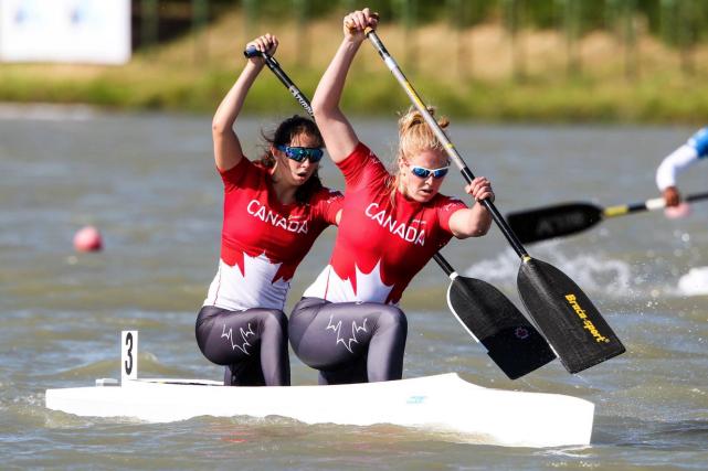 Laurence Vincent-Lapointe et Katie Vincentont été sacrées championnes... (Photo tirée de la page Facebook de Canoe Kayak Canada)