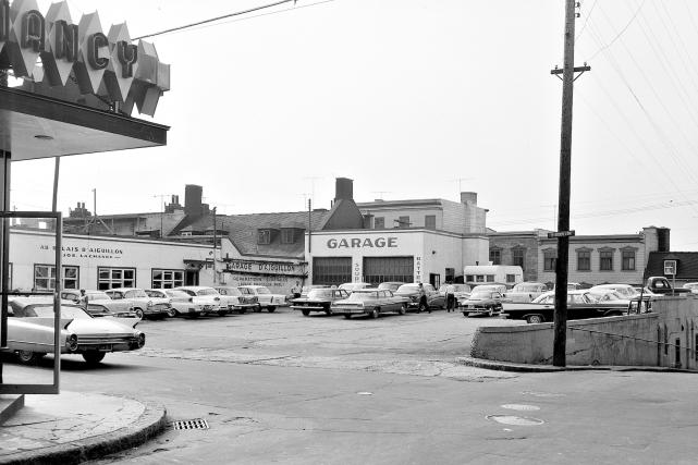 L'îlot Irving en 1962... (Collection Jocelyn Paquet, les Archives du photographe)