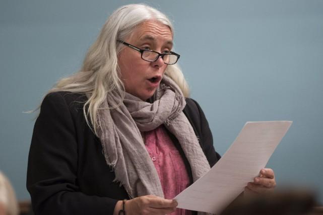 La co-porte-parole Manon Massé a énuméré plusieurs dossiers... (Photo archives La Presse canadienne)