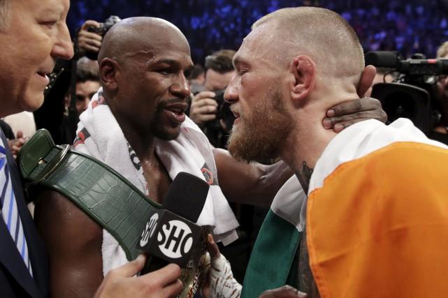 Conor McGregor a livré un combat honorable, le... (AP, Isaac Brekken)