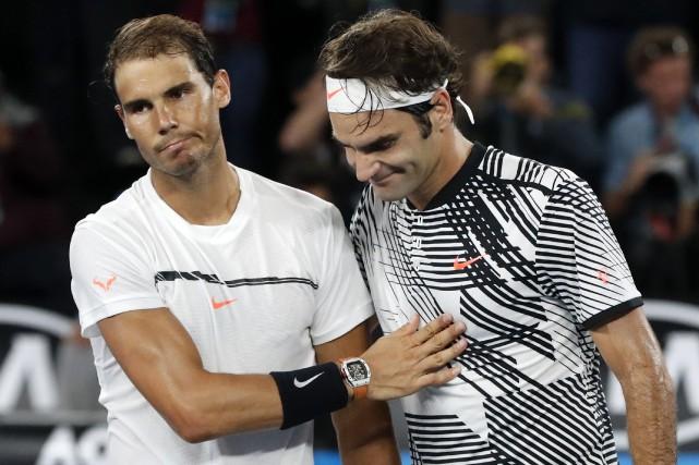 Rafael Nadal et Roger Federer seront néanmoins de... (PHOTO AP)
