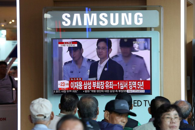 Le vice-président de Samsung Electronics et fils du... (PHOTO AHN YOUNG-JOON, ASSOCIATED PRESS)