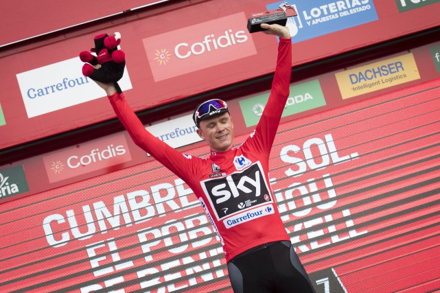 Après neuf étapes au Tour d'Espagne, Chris Froome... (Photo Jaime Reima, AFP)