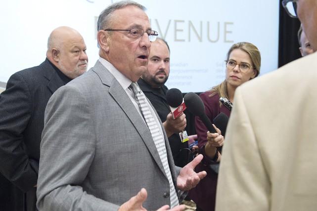 Le gouverneur du Maine Paul LePage... (Photo Andrew Vaughan, La Presse Canadienne)
