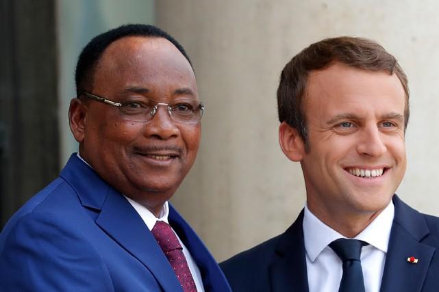 Le président du Niger, Mahamadou Issoufou a rencontré... (Photo Charles Platiau, REUTERS)