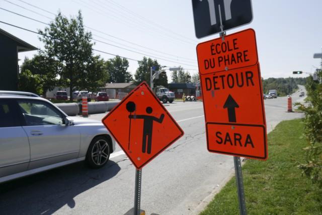 La Ville de Sherbrooke a pris des mesures de sécurité aux abords des chantiers... (Spectre Média, René Marquis)