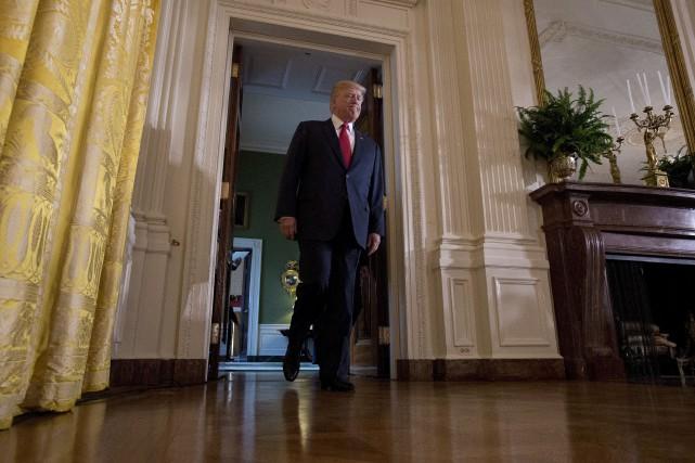 Le président Donald Trump a, pour une troisième... (AP, Carolyn Kaster)