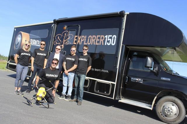 L'équipe de la tournée commanditée par Duracell était... (Photo Le Quotidien, Katerine Belley-Murray)