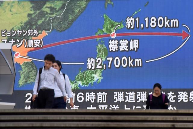 La Corée du Nord a tiré mardi matin... (AFP)