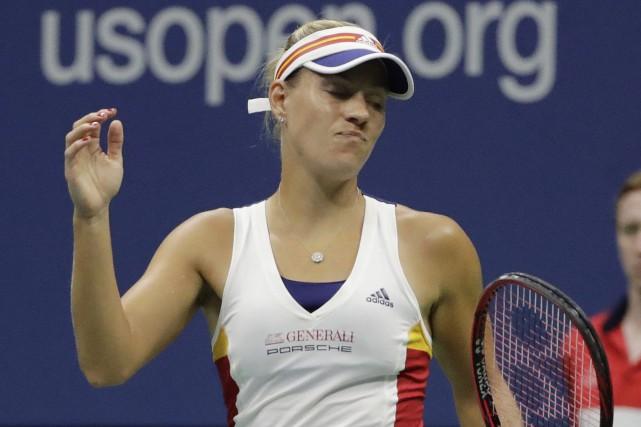 Angelique Kerber est devenue la première championne en... (AP, Frank Franklin II)