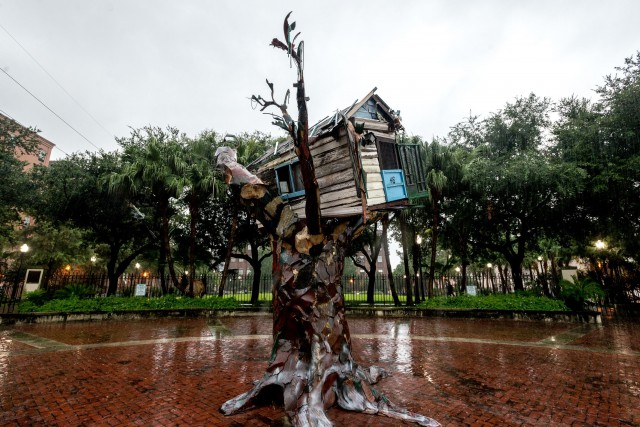 Le «Scrap House» de l'artiste Sally Heller a... (PHOTO AFP)