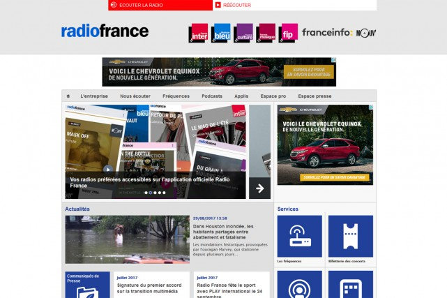 Radio France proposera une radio «sur mesure», disponible sous forme... (CAPTURE D'ÉCRAN)