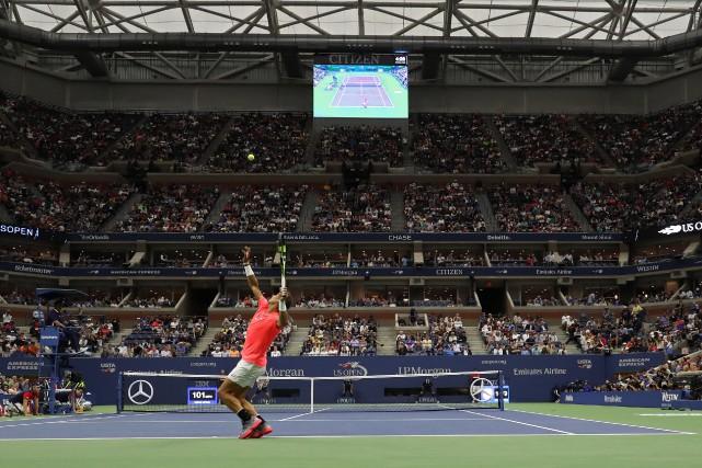 À croire rafael Nadal, le bruit était parfois... (PHOTO REUTERS)