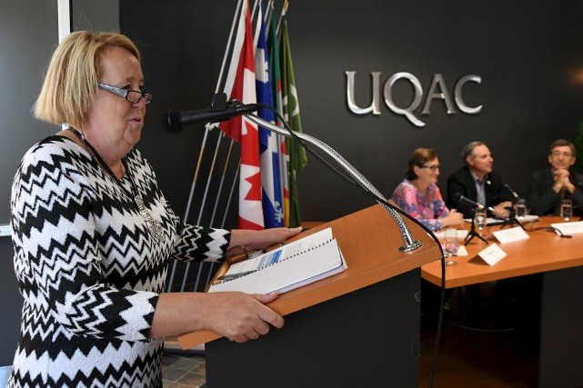 La nouvelle rectrice de l'UQAC, Nicole Bouchard, a... (Photo Le Quotidien, Michel Tremblay)