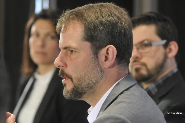 :Le lieutenant du NDP au Québec, Alexandre Boulerice.... (Archives Le Quotidien, Michel Tremblay)