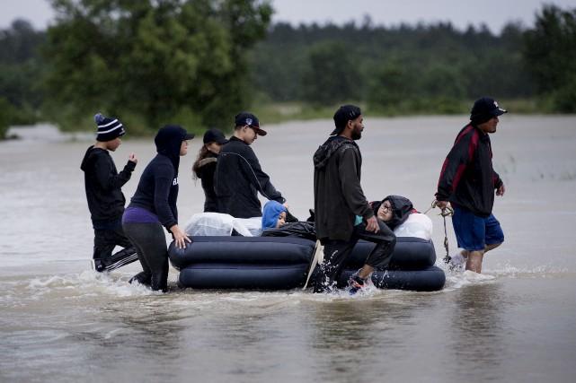 C'est maintenant officiel: la tempête Harvey et l'ouragan... (AFP)