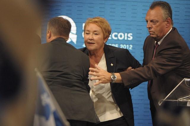 Alors que MmeMarois livrait son discours devant ses... (Archives, La Presse)