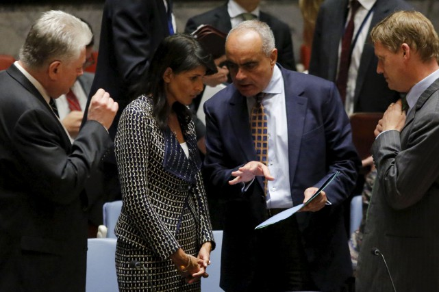 Nikki Haley, l'ambassadrice des États-Unis aux Nations-Unies, s'est... (AFP, Kena Betancur)