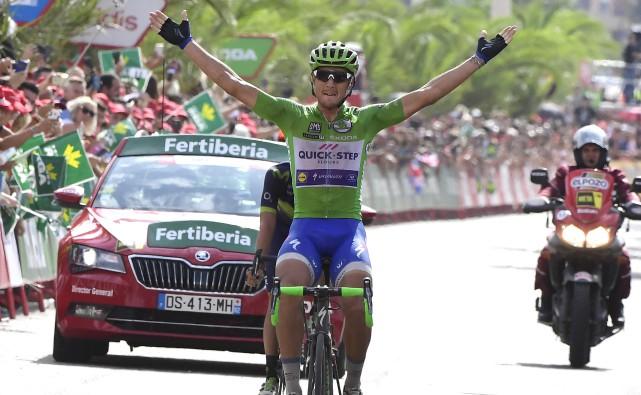 Matteo Trentin a remporté la 13eétape du Tour... (Archives, Agence France-Presse)