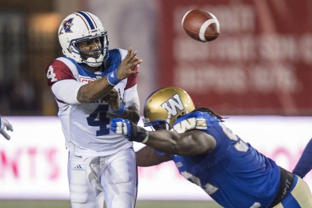 Le quart des Alouettes Darian Durant a été... (Photo Paul Chiasson, PC)
