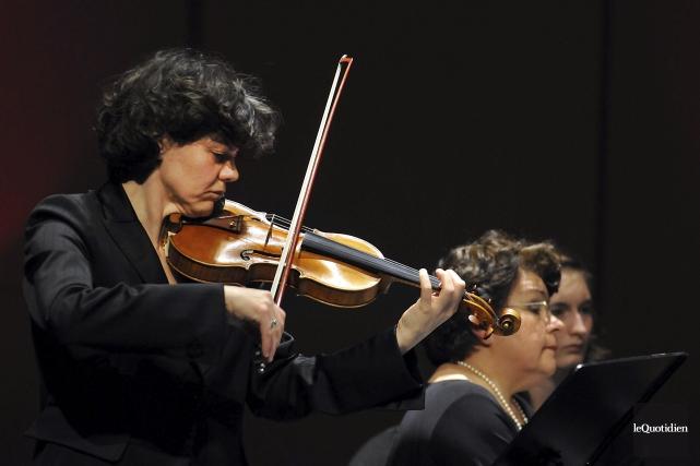La violoniste Laura Andriani quitte le Quatuor Saguenay... (Archives Le Quotidien, Rocket Lavoie)