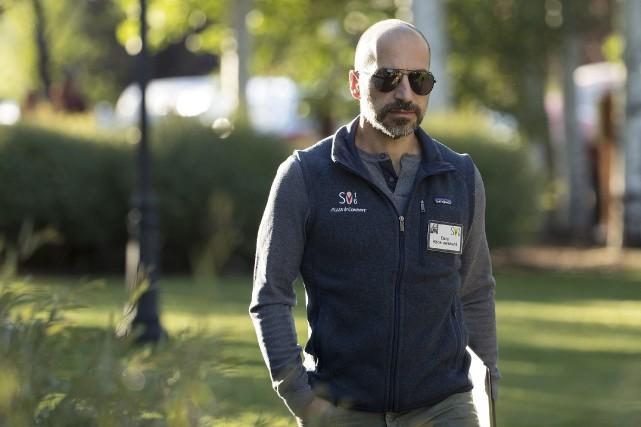 Le nouveau pdg d'Uber Dara Khosrowshahi... (AFP, Drew Angerer)