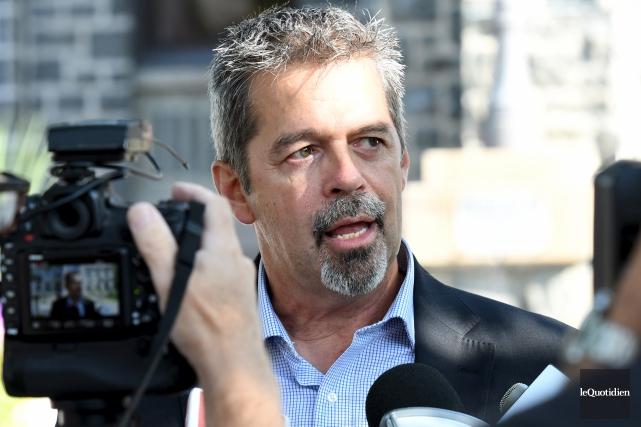 Candidat à la mairie de Saguenay, Jacques Fortin... (Photo Le Quotidien, Rocket Lavoie)