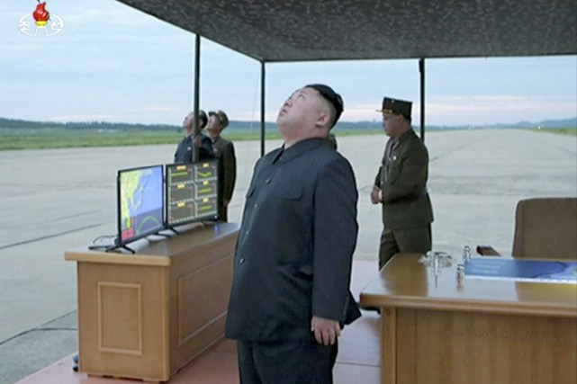 Sur cette image tirée d'une vidéo diffusée par... (KRT via AP)
