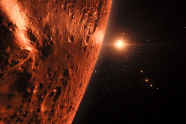 Une représentation artistique d'une vue de la surface... (Photo Agence France-Presse)