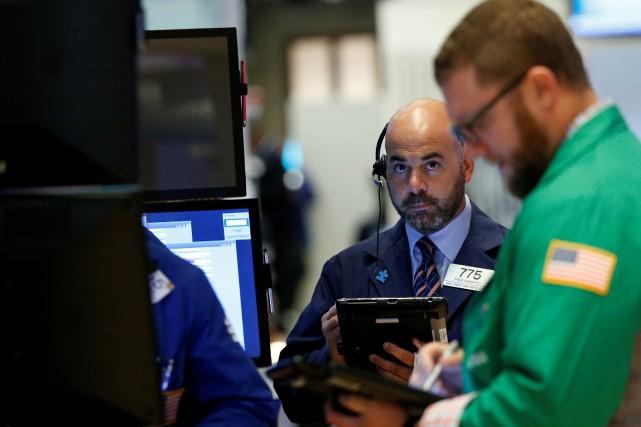 Le Dow Jones prenait 0,16% et le Nasdaq... (REUTERS)