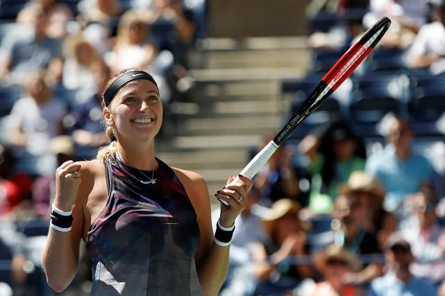 Petra Kvitova affrontera Garbine Muguruza ou Magdalena Rybarikova... (PHOTO SHANNON STAPLETON, REUTERS)
