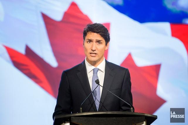 Le premier ministre Justin Trudeau a prononcé un... (PHOTO MARCO CAMPANOZZI, LA PRESSE)