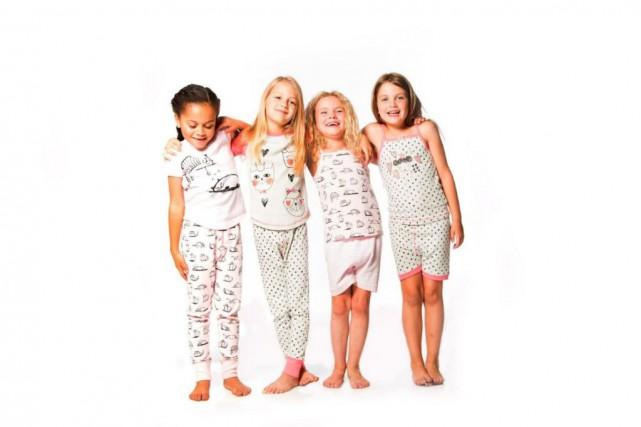Pyjamas pour filles Deux par Deux en coton... (Photo fournie par Deux par Deux)