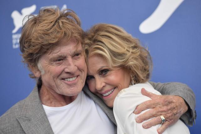 Robert Redford et Jane Fonda, deux légendes du... (PHOTO AFP)