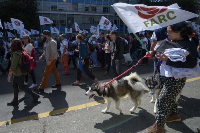 Réunis depuis dimanche à Bogota, plus de 1200... (Photo AFP)