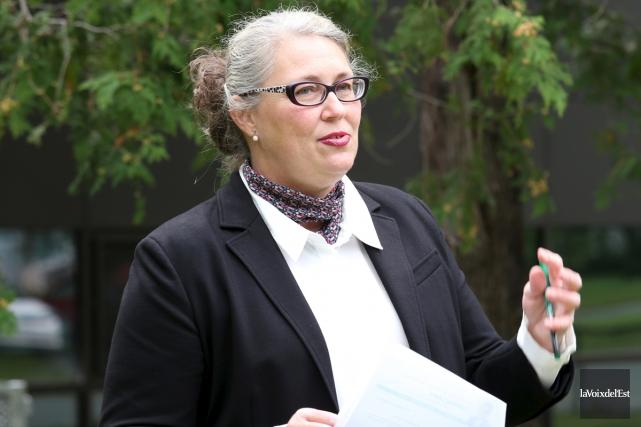 La candidate à la mairie Corinne Labbé veut... (Christophe Boisseau-Dion, La Voix de l'Est)