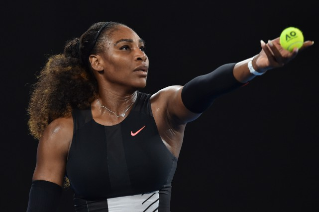 Serena Williams a mis au monde une petitefille... (Photo PAUL CROCK , AFP)
