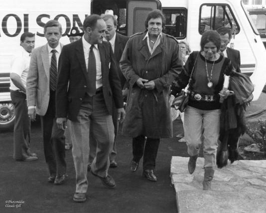 La légende du country Johnny Cash lors de... (Archives Photomedia, Claude Gill)