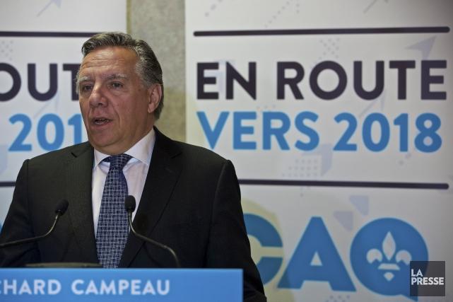 Le chef de la CAQ, François Legault, a... (Archives, La Presse)