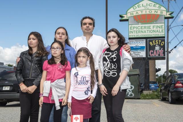 Nasser Koronfol, sa femme Christine Nicole Archambault et... (Spectre Média, Jessica Garneau)