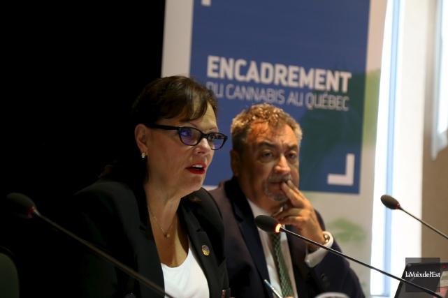 La ministre déléguée à la Réadaptation, à la... (La Voix de l'Est, Janick Marois)
