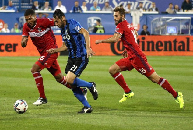 L'Impact retrouvera un Fire de Chicago en perte... (Photo Jean-Yves Ahern, archives USA TODAY Sports)